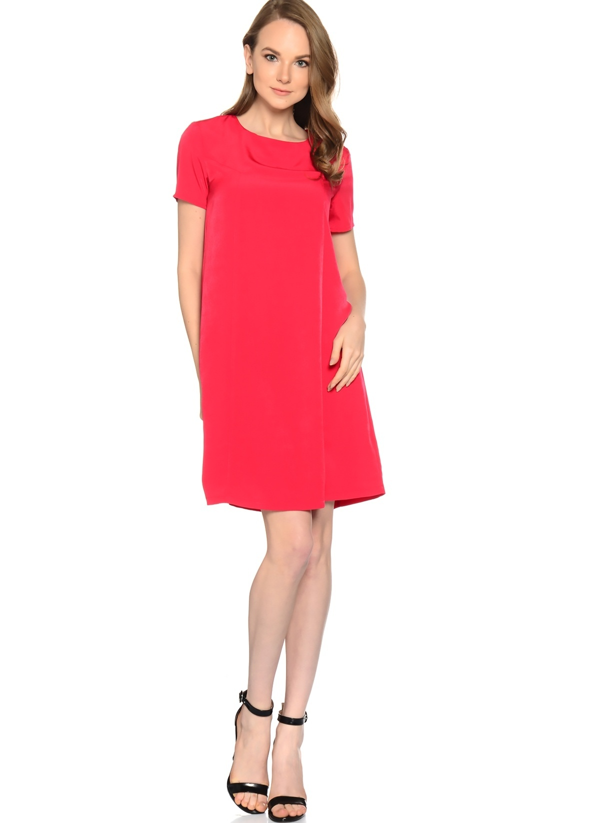44c4ff7996add Limon Company Kadın Kısa Kollu Düz Elbise Kırmızı   Morhipo   18892525